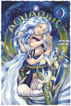 Bergsma Gallery Press::Paintings::Originals::Original Paintings::2005/ Zodiac Series / Aquarius - Original Painting