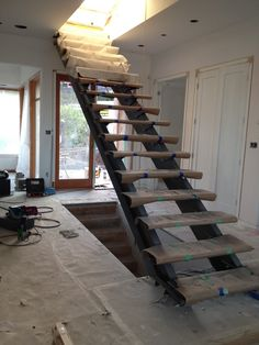 Custom Steel Stair With Concrete Treads By Face Design