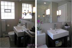 Chicago suburb bathroom interior design by EDYTA & CO Interior Design Chicago, Luxury Interior Design, Bathroom Interior Design, Small Master Bath, Wood Pedestal, Bath Design, Powder Room, House Design, Bathroom Ideas