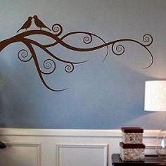 Love Bird Branch Wall Art Design