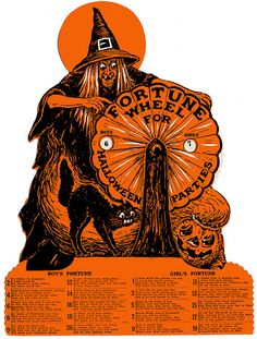 1920s Beistle Halloween Fortune Wheel