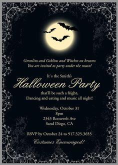 Vintage Halloween invitation design by DesignsMadeEasy on Etsy, $12.00