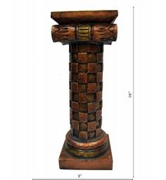 Wooden Rajasthani Pillar (Single) -Small Piece @ Rs 2300/-   http://www.krafthub.com/wooden-rajasthani-pillar-single-small-piece.html