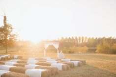 vintage country rustic southern wedding julie paisley photography haybale wedding lace arch burlap lace diy wedding