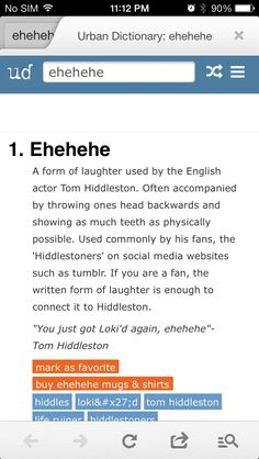 TROLOLOLOL xD xD i CANT stop smiling like a total XD my lips are quivering in excitment <--- i spelled that wrong Thomas William Hiddleston, Tom Hiddleston Loki, Urban Dictionary, My Tom, Loki Laufeyson, The Villain, Hilarious, Funny, Chris Hemsworth