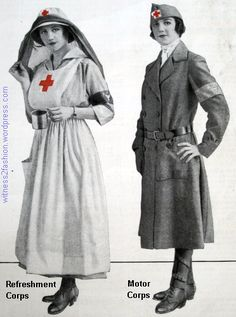 American Red Cross Service Uniforms, ©1917, Refreshment Corps and Motor Corps Uniforms, AMC, Ladies' Home Journal, Sept. 1917.
