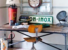Rincones de trabajo vintage-industrial