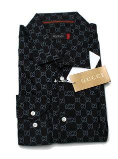 Gucci Long Sleeve Button Down New Cotton Men's Dress Shirt Cd416 Size Medium