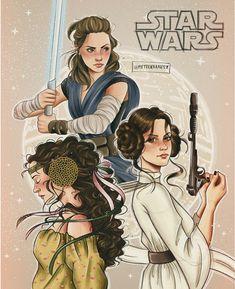 Padme Amidala princess Leia and Rey