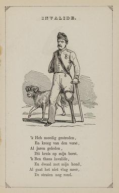 Invalide. Uit: Prentenboek: een ijverige hand vindt werk, 1850. Aanvraagnummer: 851998240