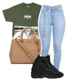 """yeezy breezy"" by str8-savage ❤ liked on Polyvore featuring Ray-Ban and NIKE"