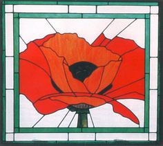 Stained Glass - Poppy
