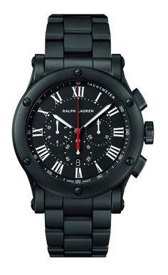 Ralph Lauren Sport Black Matte Ceramic Self-Winding Men's Watch � R0236600 � Ben Garelick Jewelers