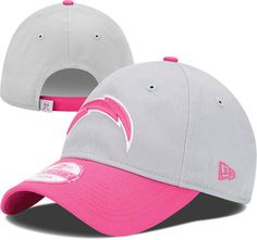 San Diego Chargers Pink Women's 9Forty Breast Cancer Awareness Sideline Hat