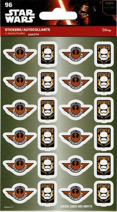 Star Wars 96 Stickers 4 Sheets of 24 Resistance Power First Order ST2492DI 42692043477 | eBay