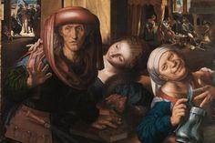 Jan van Hemessen, Lockere Gesellschaft, um 1540 (Staatlich Kunsthalle Karlsruhe)