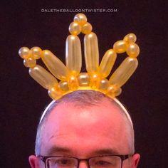 Balloon tiara hairband for a princess party.