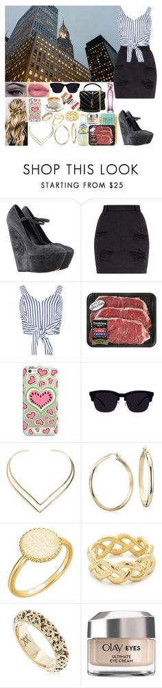 """Sin título #1351"" by gisella-jb-pintos ❤ liked on Polyvore featuring Casadei, WithChic, Anastasia Beverly Hills, Casetify, Natalie B, Blue Nile, Soave Oro, Vanzi, Olay and Yves Saint Laurent"