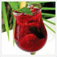 cherry pomegranate mojito...yummm