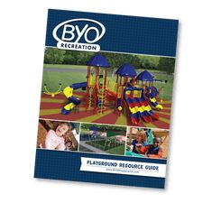 Free Playground Resouce Guide | Discover new ways to play with our free standing climbers, spinners, and much more! Learn how to plan your playground from start to finish, from designing your structures, choosing independent play items and safety surfacing to planning your install! BYO Custom structures combine your vision and our expertise for a one of a kind play structure!