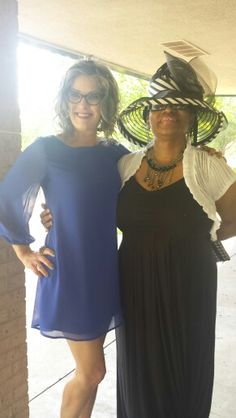 @dawntotty and Regina Conley Hockett. Fabulous judges for the hat contest. Thanks ladies! #konadubodycarelaunch