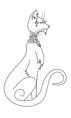 egyptian bastet drawing - Google Search