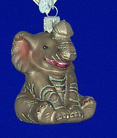 Little Baby Elephant Glass Ornament by Old World Christmas