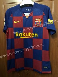 4e7503987 2019-2020 Barcelona Home Red Blue Thailand Soccer Jersey AAA-407