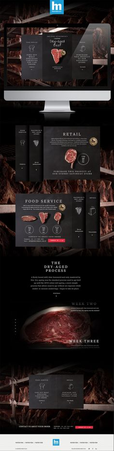 https://www.haverickmeats.com.au/certified-dry-aged-beef/ An industry first, Haverick Meats feature the ultimate temperature and humidity-controlled dry-ageing room to provide correctly handled, expertly monitored, dry-aged beef at its peak of flavour. Web design by Wiliam - http://www.wiliam.com.au