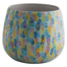 MELODY Multi-coloured ceramic plant pot 16x16.5cm | Buy now at Habitat UK