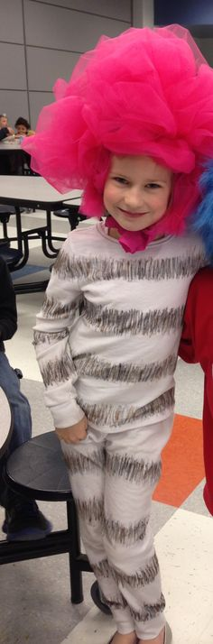 Dr. Seuss Day.  Truffula Tree Costume