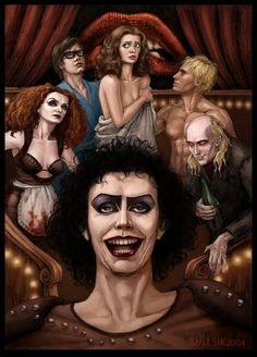 The Rocky Horror Picture Show is one of my all time favorite movies, and this fan art is awesome!