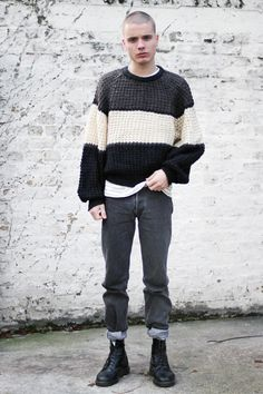 Keep it original with our three stripe jumper.     http://www.thewhitepepper.com/collections/new-in/products/block-unisex-jumper-3-stripe
