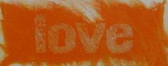 Orange Love, carborundum 140x80 cm