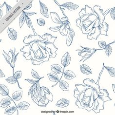 More than a million free vectors, PSD, photos and free icons. Exclusive freebies and all graphic resources that you need for your projects Patterns In Nature, Print Patterns, Pink And White Background, Drawing Hands, Hand Drawn Flowers, Plant Drawing, Painted Paper, Vector Free, Vector Stock
