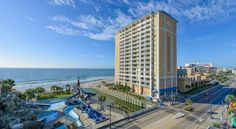 Westgate Myrtle Beach Oceanfront Resort Myrtle Beach Only 9 minutes' walk from Myrtle Beach Boardwalk , this Westgate hotel boasts direct beach access and an outdoor pool with a lazy river. Family Kingdom Amusement Park is across the street.  All rooms and suites have a kitchenette.