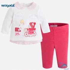 """Conjunto de bebe niña MAYORAL NEWBORN de sudadera y leggings """"bici"""""""