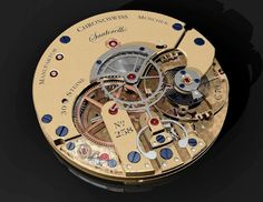 Movement from a Chronoswiss Sauterelle.