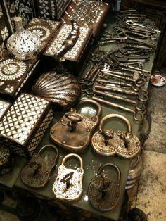 Photo by Lennon Ying-Dah Wong. Impressive Collection of Antique Keys and Locks.
