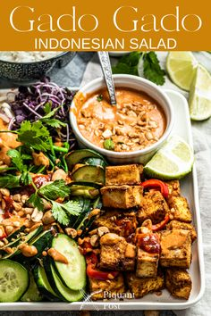 Gado Gado Indonesian salad is one of the most well known dishes in Indonesia and one of the easiest to customize, including making it vegan or vegetarian.