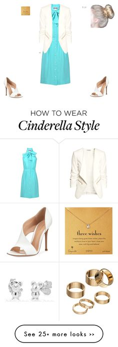 """""""Business Cinderella"""" by punkalishous on Polyvore featuring Moschino, H&M, Gianvito Rossi, Apt. 9, Dogeared, FH and nw"""
