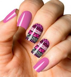 24 - 2019 year colorful nail designs wonderful - 1 2019 year we offer wonderful nail designs to your liking. Have a look at nail designs to suit your . Tribal Nail Designs, Latest Nail Designs, Colorful Nail Designs, Nail Art Designs, Hair And Nails, My Nails, Plaid Nails, Tribal Nails, Sparkle Nails