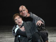 Benedict Cumberbatch and Johnny Lee Miller in the 2011 National Theatre production of Frankenstein Benedict Cumberbatch, Watch Sherlock, Sherlock Bbc, National Theatre Live, Dr Frankenstein, Shakespeare Characters, Johnny Lee, Jonny Lee Miller, The Imitation Game
