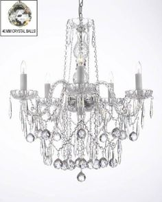 Magnificent Chandelier Online Shopping quicklook Shop For All Crystal Chandelier Lighting With 40 Mm Crystal Balls Icicles Get Free Shipping At Your Online Home Decor Outlet Store