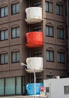 Teacup balconies.