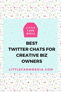 Great list of Twitter chats for creative biz owners by Caitlin Bacher!