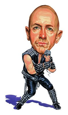Shop for heavy metal music artwork and designs from the world's greatest living artists. All heavy metal music artwork ships within 48 hours and includes a money-back guarantee. Judas Priest, Hard Rock, Rock Rock, Funny Caricatures, Celebrity Caricatures, Rob Halford, Steven Tyler Aerosmith, Heavy Metal Art, Tribute