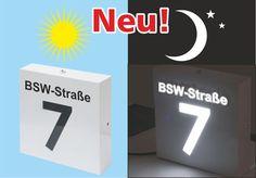 Hausnummer mit toller Optik beleuted LED Day & Night