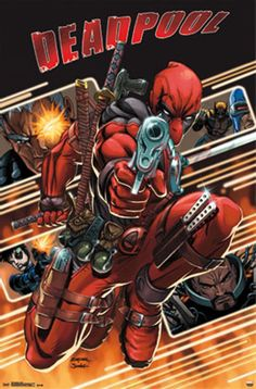 Deadpool Attack Comic Poster