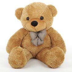 Giant Teddy - Tiny Shags Cuddly and Adorable Mocha Brown Teddy Bear 35in - Giant Teddy